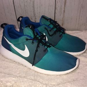 Nike Mens Rouche One Teal Blue Run - 13